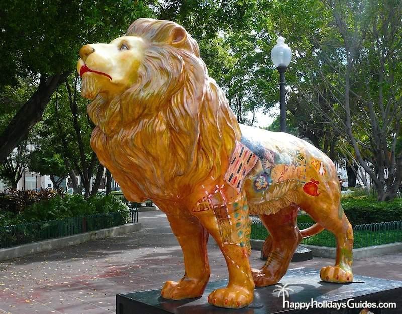Ponce PR Lion Statue