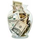 travel budget jar of money