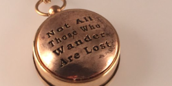 JRR Tolkien Gold Compass