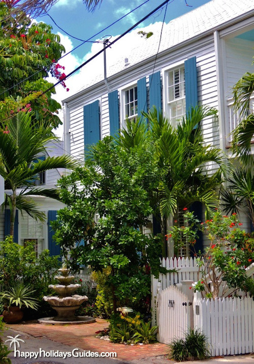 Key West Style Homes Mini Garden