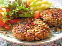 Vegan Travel Vegan patties dinner