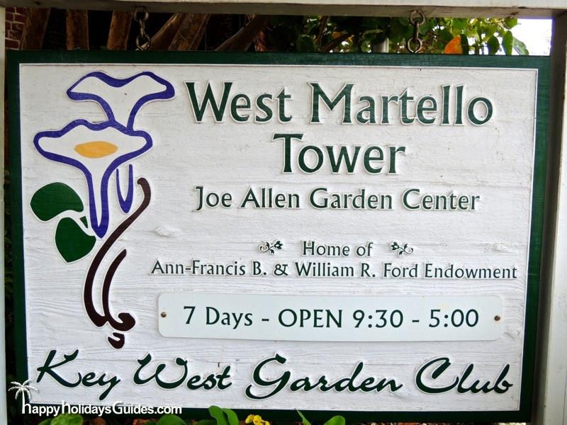 Key West Garden Club Sign