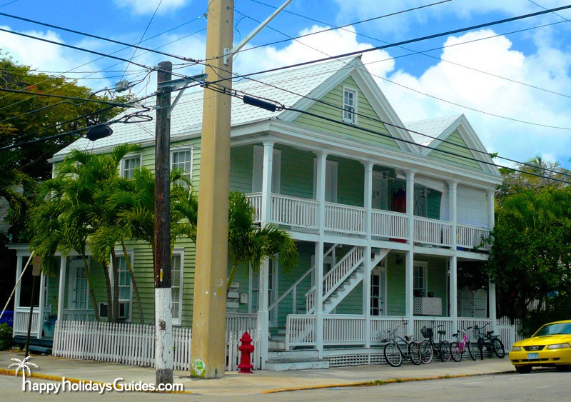Key West Style Home Green Large Home