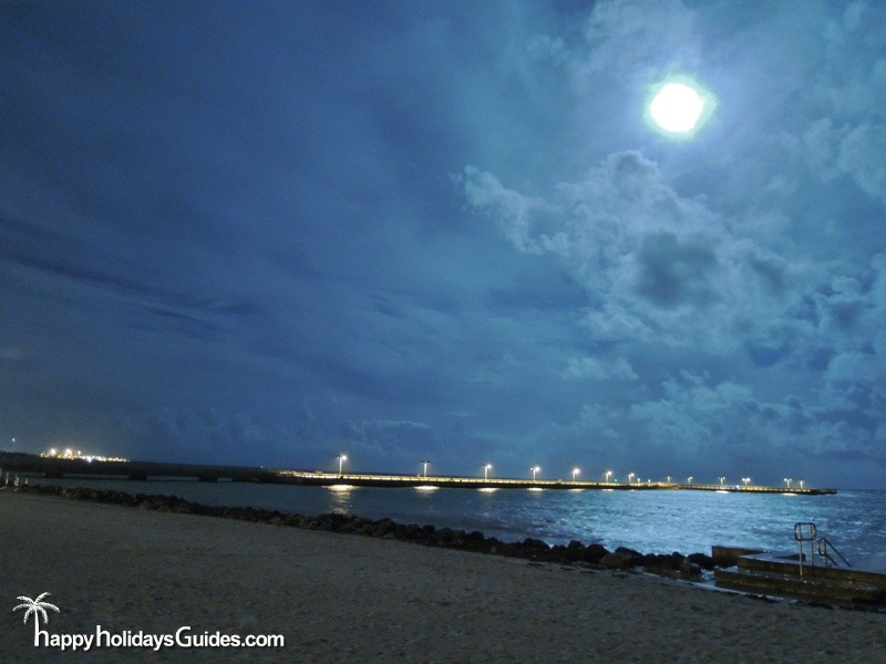 White Street Pier Night Sky