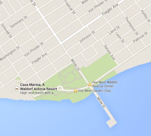 White Street Pier Map, Directions