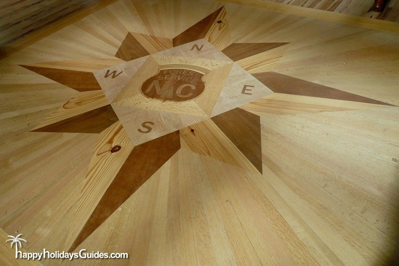 DuPont State Park Wood Floor Compass