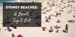 Sydney Beaches Top Five