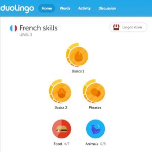 Duolingo Home Screen